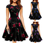 New Womens 50s 60s Retro Vintage Swing Pinup Housewife Rockabilly Evening Dress