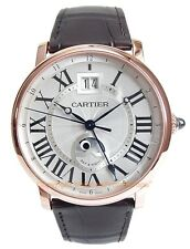 CARTIER Rotonde Grande Date GMT 18k Rose Gold W1556220 Box/Papers Retail $25500