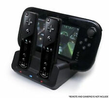 NERO Caricabatterie Docking Station + 2x Battery Pack per Wii e Wii U Remote Gamepad