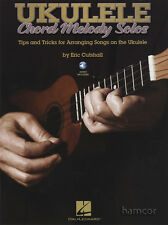 Ukulele chord melody solos tab music book/cd