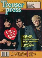TROUSER PRESS magazine No. 87  U2  Wall Of Voodoo  Stranglers  Ultravox