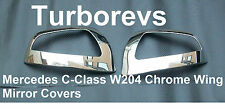CHROME DOOR WING MIRROR COVER CAPS FOR MERCEDES C-CLASS W204 SALOON