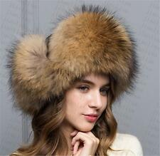 new Genuine Real fashion Winter Women raccoon fur New Hat Cap Headgear Beanie