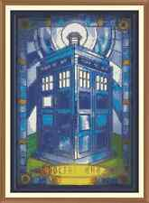 SG Art Deco Tardis Cross Stitch Chart  x 12.0 x 8.2Inches
