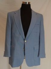 Stafford Sport Coat Blazer 43R Light Blue Polyester and Wool