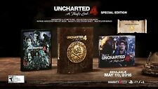 Uncharted 4: A Thief's End Special Edition [PlayStation 4 Steelbook ArtBook] NEW