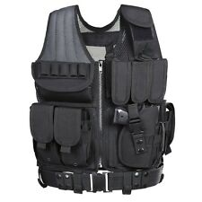 Tactical Vest Holster Accessories Black Assault Gear Swat Paintball Airsoft NEW