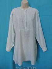 Vtg 90s VICTORIAS SECRET COUNTRY Flirty Blue Floral Light Cotton Sleepshirt Med