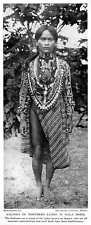 1913 Igorot Kalinga Tribes Northern Luzon In Gala Dress