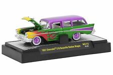 M2 Machines WILD CARDS 1957 CHEVROLET 210 BEAUVILLE STATION WAGON MINT IN BOX