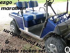 Ezgo Marathon Golf Cart Diamond Plate Full Side Panels and wrap kick set