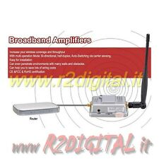 AMPLIFICATORE PER ANTENNA ROUTER 2W SMA ACCESS POINT WIFI ESTENSIONE SEGNALE