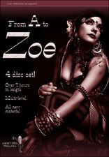 From A To Zoe Tribal Fusion Bellydance Instructional 4 Disc Set 7hr - Zoe Jakes