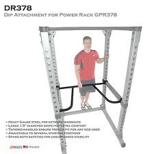 NEW Body-Solid DR378 Dip Attachment for use with Pro Power Rack Station GPR378