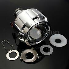 "2.5"" RHD Bi-xenon Projector Kit HID Len Angel Eye Halo Headlight Shroud H1 H4 H7"