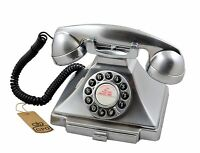 GPO 1929S Classic Carrington Vintage/Retro Push Button Telephone In Chrome (NEW)