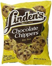 30x2 oz Linden's Chocolate Chip Chippers Bite Size Cookies Made with Whole Grain