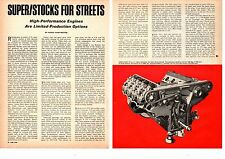 1967 SUPER-STOCK HIGH-PERFORMANCE ENGINES ~ RARE ORIGINAL 5-PAGE ARTICLE