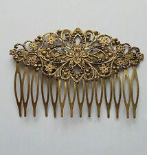 Antique Bronze Effect Decorative Victorian Inspired Hair Comb