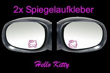 2x Hello Kitty Rétroviseur Autocollant Voiture 4,5cm x 4,5cm Fun