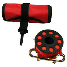 Surface Marker Buoy - Finger Reel and Signal Tube combo. Scuba Diver Safety kit