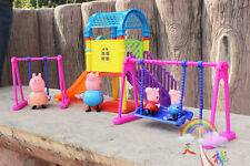 2016Peppa Pig Playground Children's Slide Swing Play Set With Figures Xmas Gift