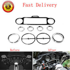 9X Chrome Stereo Accent Speedometer Speaker Trim Ring Set Harley Ultra Classic