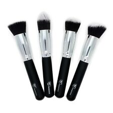 Premium 4 Piece Synthetic Kabuki Makeup Brush Set From Royal Care Cosmetics
