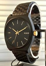 **BRAND NEW** NIXON THE TIME TELLER WATCH MATTE BLACK GOLD A0451041