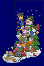 """Christmas Stocking #21"" Cross Stitch Pattern Chart"