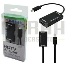 MHL ADAPTOR HDTV VIEW HD VIDEOS FROM MOBILE PHONE TO TV 5 PIN MICRO USB TO HDMI