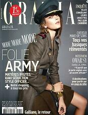 GRAZIA N°264 17 OCTOBRE 2014  MODE ARMY/ OMAR SY/ GALLIANO/ MODIANO/ FKA TWIGS