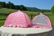 Temp-tations Set of 2 Square Old World Food Tent - Pink