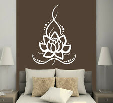 Wall Decals Ornament Lotus Flower Vinyl Sticker Home Decor Boho Bohemian MS625