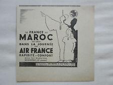 11/1938 PUB COMPAGNIE AIR FRANCE AIRLINE MAROC DEWOITINE D-338 ORIGINAL AD