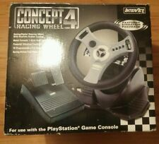 INTERACT CONCEPT 4 RACING WHEEL WITH BRAKE AND GAS PEDALS (PlayStation PS1 PS2)
