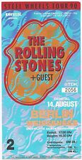 The Rolling Stones in concert ticket 1990/concerto carta/biglietto