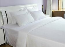 1-Pack FLAT BED SHEETS FULL XL BRIGHT WHITE 81x115 T180 PERCALE HOTEL LINEN