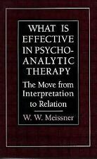What Is Effective in Psychoanalytic Therapy: The Move from Interpretat-ExLibrary