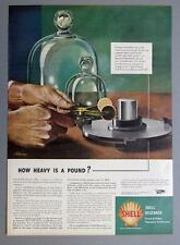 Original 1944 Shelll Ad HOW HEAVY IS A POUND Artwork by John Atherton 1900-1952