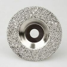 "100mm 4""Silver Diamond Coated Sawing Blade Cutting Disc Wheel with Holes 46 Grit"