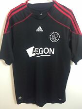 AJAX AMSTERDAM HOLLAND 2009/2010 FOOTBALL SHIRT JERSEY AWAY ADIDAS ORIGINAL SZ L