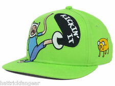 "ADVENTURE TIME ""KICKIN IT"" CHARACTER YOUTH SNAPBACK HAT/CAP - AGES 4 -10"