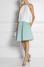 Tibi KATIA Pleated Skirt Calming Mint NWT Size 6 Retail $495