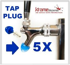 BEER FAUCET BRUSH KLEEN PLUG 5X BLUE HYGIENE TAP CAP TO KEEP CLEAN BUG FREE TAPS