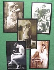 5 Photos of c1920 Art Deco Nouveau Vintage Stockings Nude Flappers Jazz Era  B15