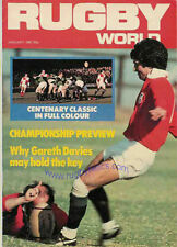 RUGBY WORLD MAGAZINE JANUARY 1981 - PERFECT GIFT FOR A FAN BORN IN THIS MONTH