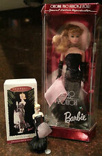 1995 Solo in the Spotlight Barbie Doll by Mattel & Hallmark Ornament set - NIB