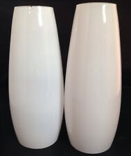 Tube Cylinder Light Lamp Shade Frosted Glass White Candle Wall Sconce Set Of 2