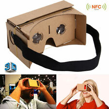 VIRTUAL REALITY GOOGLE CARDBOARD HEADSET 3D VR GLASSES FOR ANDROID iPHONE iOS